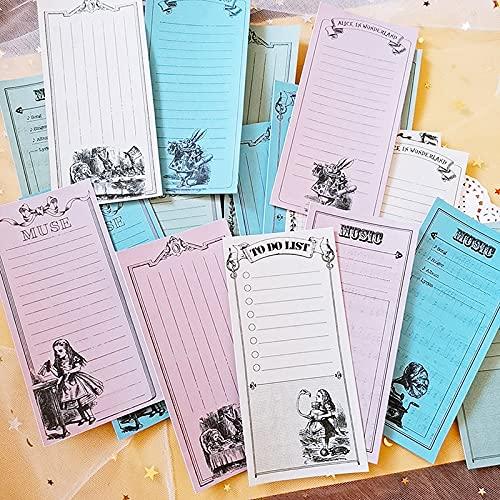 PMSMT 24pcsset Retro Alice musicmuselist Material DIY Manualidades álbumes de Fotos Scrapbooking Pegatinas/Nota planificada/Diario Basura