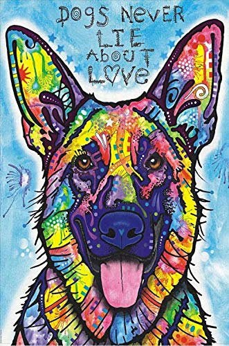 LIVEQL Impossible Crossword,500 Sheets Toys Game Jigsaw Puzzles for Grown ups Wooden Adults Puzzle 3D Birthday Gift/Colored German Shepherd