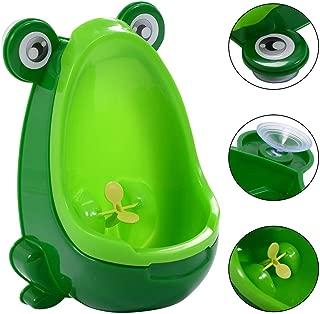 HONEY JOY Frog Potty Trainer Boy Urinal Toilet Training Spin Design Kids Bathroom (Green)