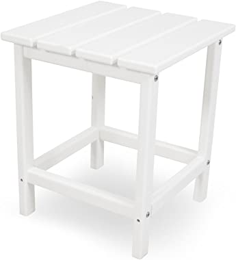 "POLYWOOD ECT18WH Long Island 18"" Side Table, White"
