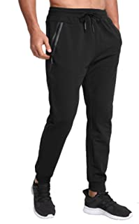 JustSun Tracksuit Bottoms for Men Joggers Slim Fit Jogging Bottoms Zip Pockets