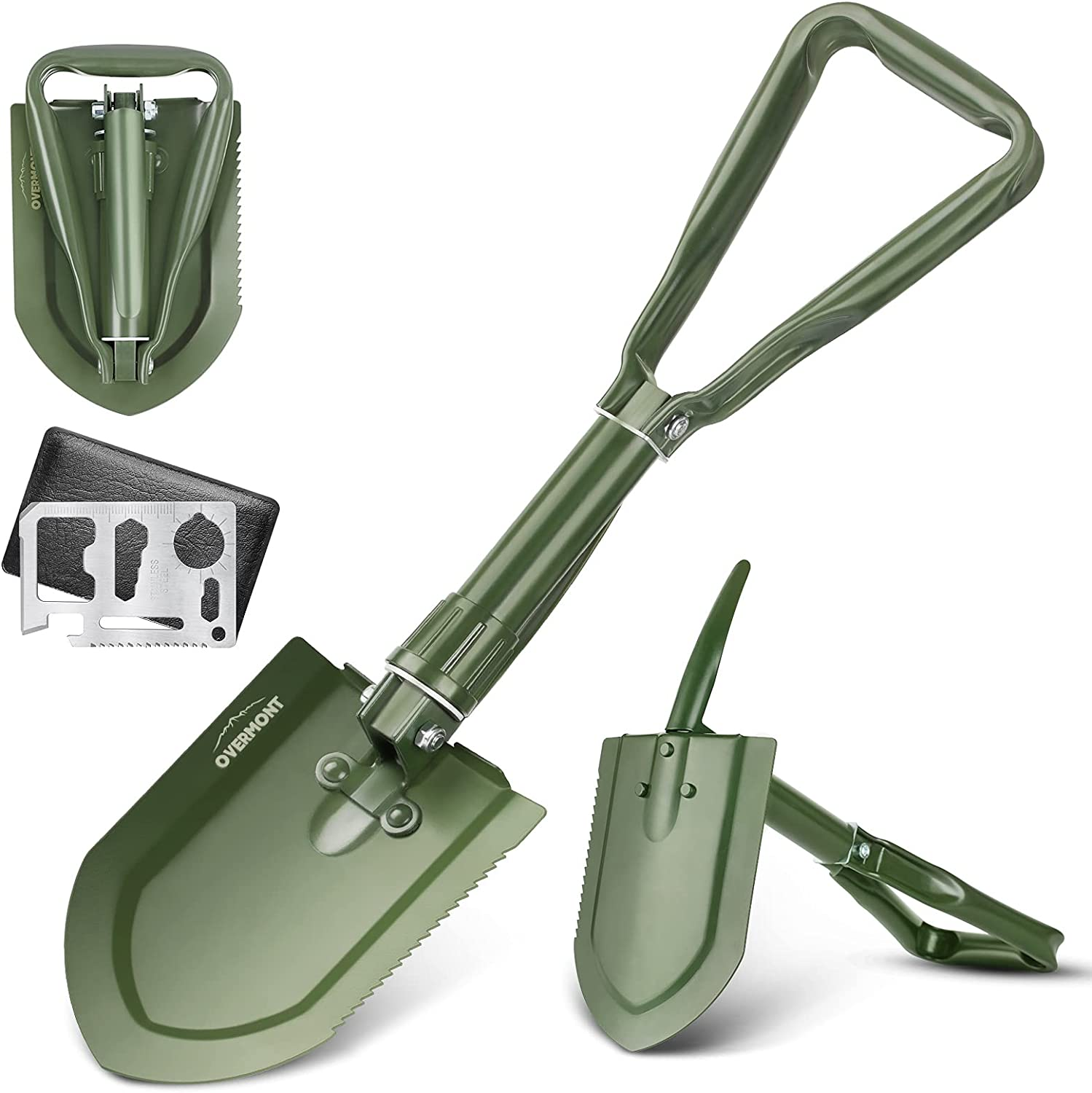 Overmont Military Folding Product Super-cheap Camping Shovel Entre High Carbon Steel