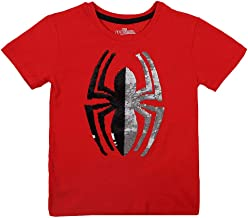 Hopscotch Bioworld Boys Cotton Spiderman Logo Printed Kids T-Shirt in Red Color
