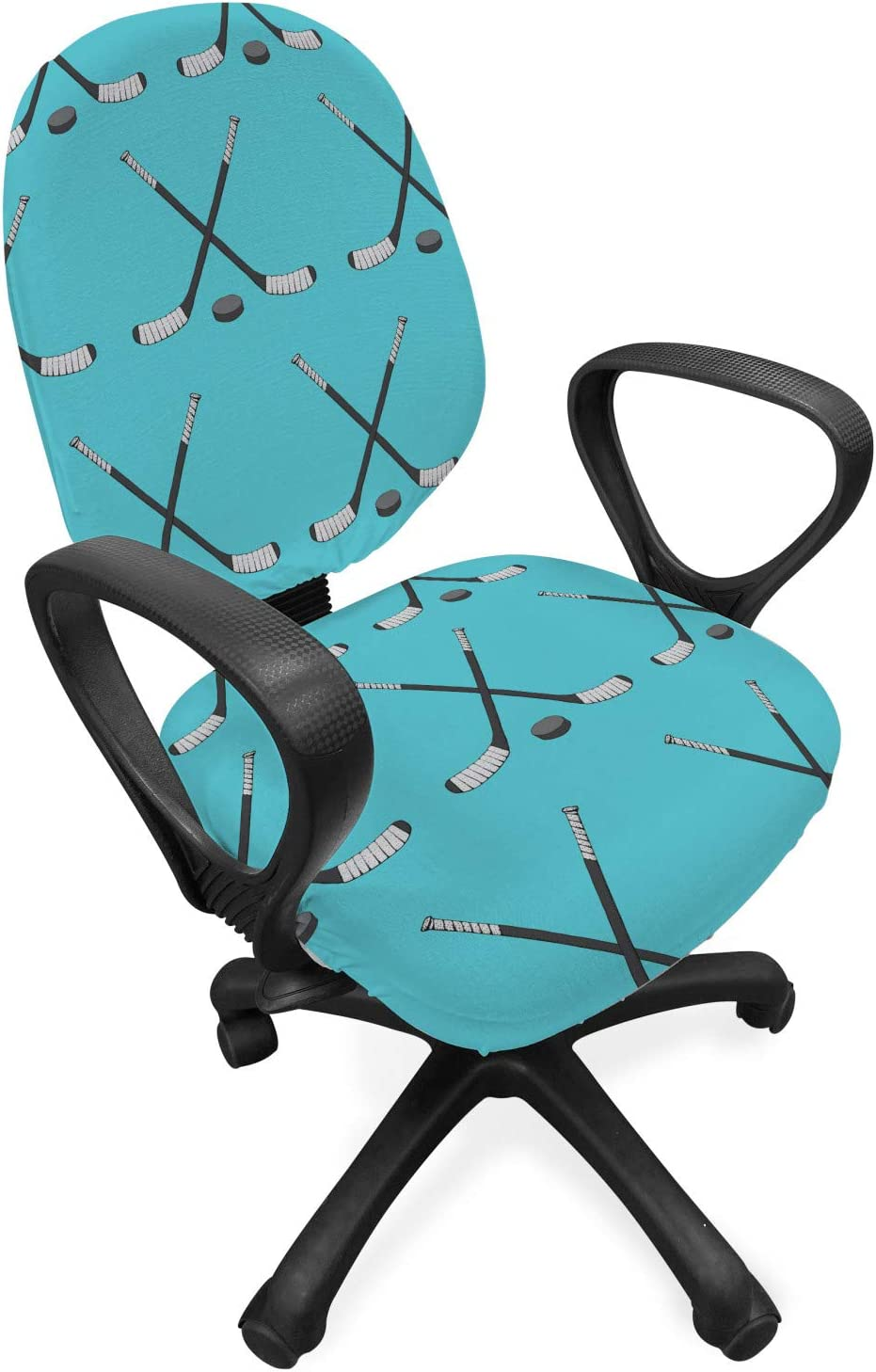 Lunarable Fixed price for sale 5 ☆ very popular Ice Hockey Office Chair Sports Equipmen Slipcover