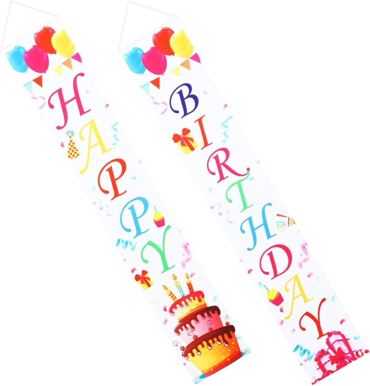 Popularity Amosfun Happy Birthday Door Ranking TOP20 Porch Polye Cover Sign