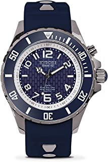 KYBOE! Power Stainless Steel Quartz Watch with Silicone Strap, Blue, 21 (Model: KY.40-031.15)
