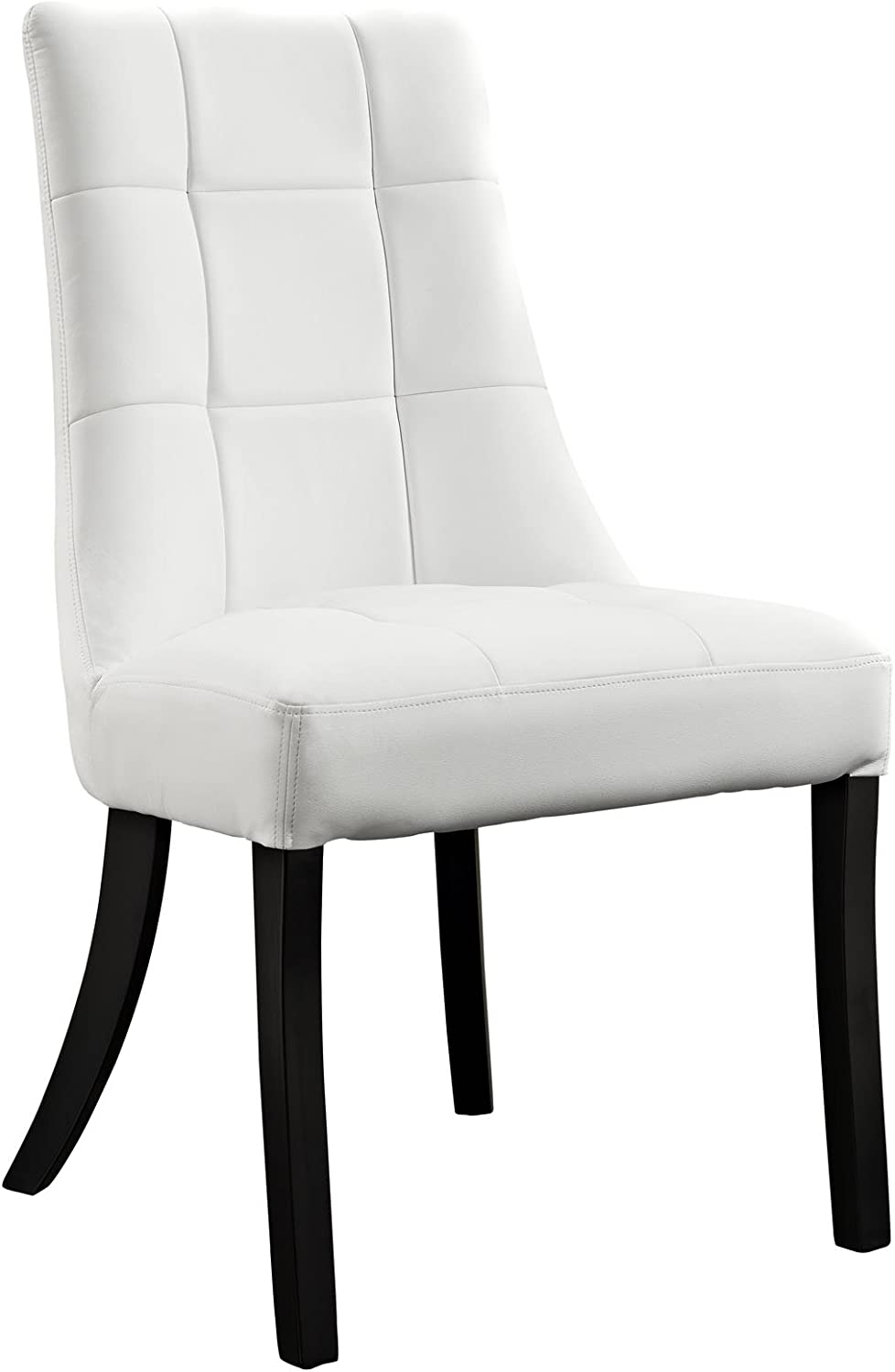 Modway Noblesse Vinyl Dining Chair, White