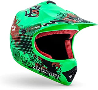 "armor HELMETS® AKC 49 ""Limited Green"" · Kinder Cross Helm · Motorrad Helm MX Cross Helm MTB BMX Cross Bike Downhill Off Road Enduro Helm Moto Cross · DOT Schnellverschluss Tasche L (57 58cm)"