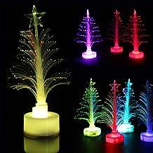 TOYANDONA 4pcs Tabletop LED Christmas Tree Light up Xmas Tree Ornament for Xmas Table Centerpiece