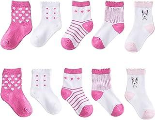 Fatu Fashion Baby Boy Girl Socks Toddler Infant Newborn Non-skid Ankle Cotton Socks Unisex All Weather Outdoor (Pink, m)