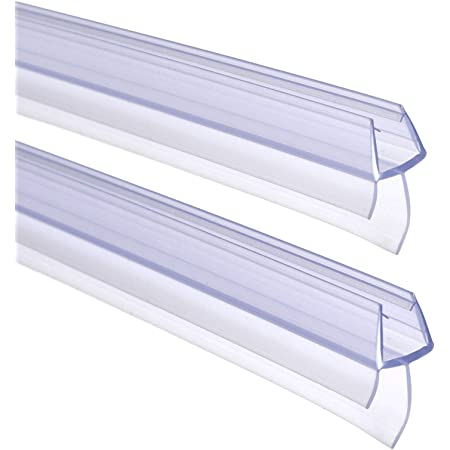 FOCCTS 2pcs Tiras de Gomas Sellados de Baño 90cm de Largo para Mampara de Baño o de Ducha o Puerta de Cristal (Entre 6 a 8 mm)