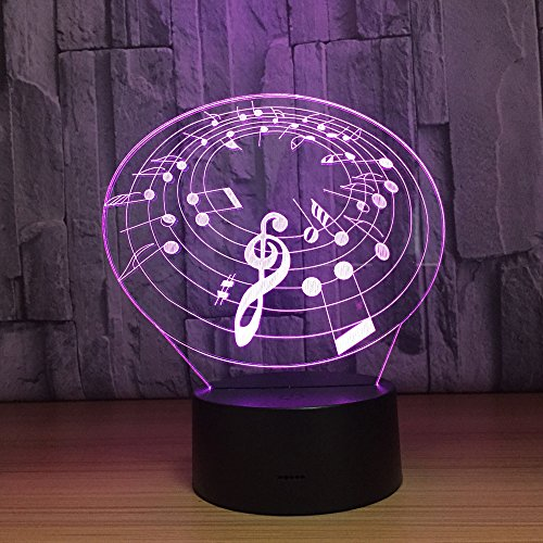 3d Musik Notation Lampe 3d Nachtlicht mit 7 Farbwechsel Touch Usb Schreibtisch Tisch Stimmung Lampe Home Decor Geschenk