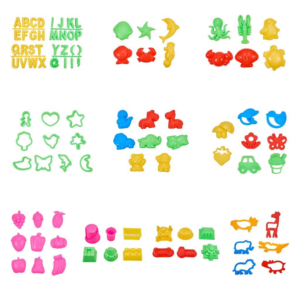 人種切手関税PH PandaHall 約98点セット 粘土メイキングツール カラークレイ金型セット プラスチック製 知育おもちゃ 粘土ツール 粘土金型 こて工具モデル モデルツール DIY用品 手芸用品 アクセサリーパーツ 混合色
