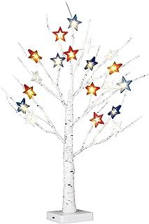 EAMBRITE Party Stars Mini Cascade Centerpiece 2FT 24LT Birch Tree Light Tabletop Tree Light Decor for Wedding Party Birthday