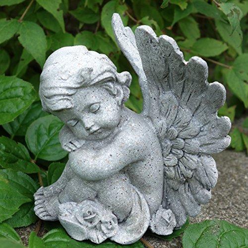 Trauer-Shop Kleine Engel Figur sitzend träumend. Höhe 10cm. 1 Stück