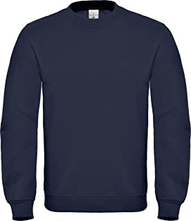 B&C Collection ID.002 Sweatshirt Mens Crew Neck Long Sleeve Jumper Casual Top