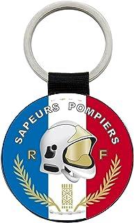 Reloadshop Porte Cles Sapeurs Pompiers SP Ecusson Infirmier Jeton Caddie Metal Cuir