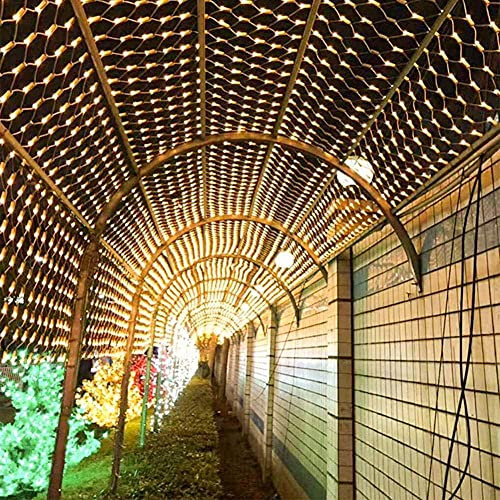 - Gorro de pelo seco con luz LED, cadena de luces de hadas resistente al agua, jardín, patio, fiesta, decoración de Navidad (color: azul tamaño: 6 5 pies x 9 8 pies 192 LED)