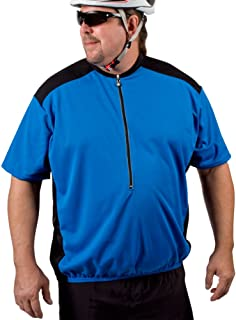 AERO TECH DESIGNS Big Man's Colossal Cycling Big Guy Bike Jersey with Back Pockets and Wicking Fabric Made in USA