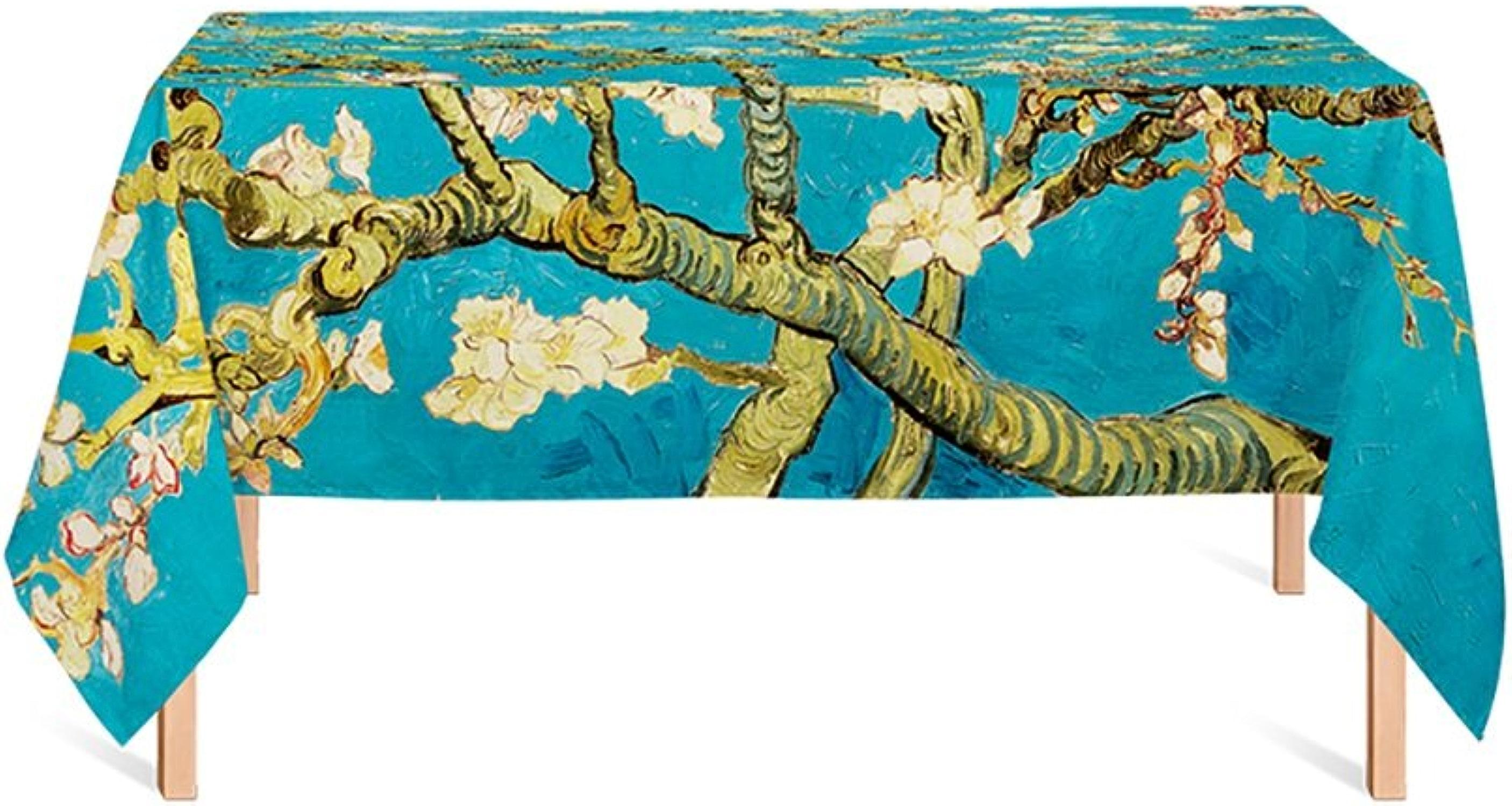 WOFULL Nappe en lin aux fleurs d'abricot Rectangle ( taille   140180cm )