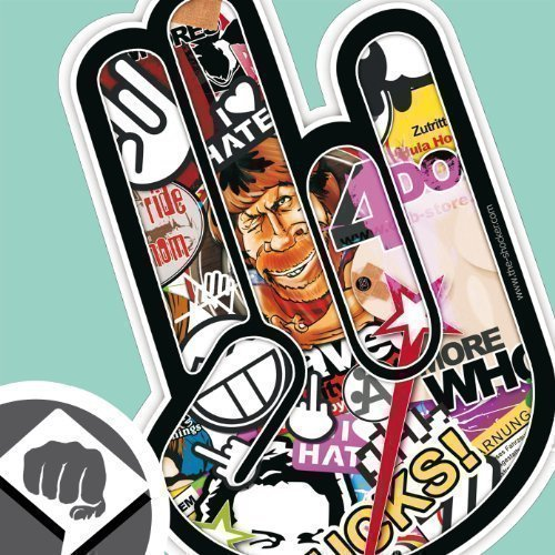 Sticker Bomb 01 - The Shocker Hand Aufkleber Decal Sticker Bombing 15cm NEU - Dub