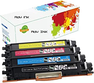 ADY Compatible Toner Cartridge Replacement for HP 130A CF350A CF351A CF352A CF353A MFP M176n M177fw (4-Pack Black Cyan Magenta Yellow)