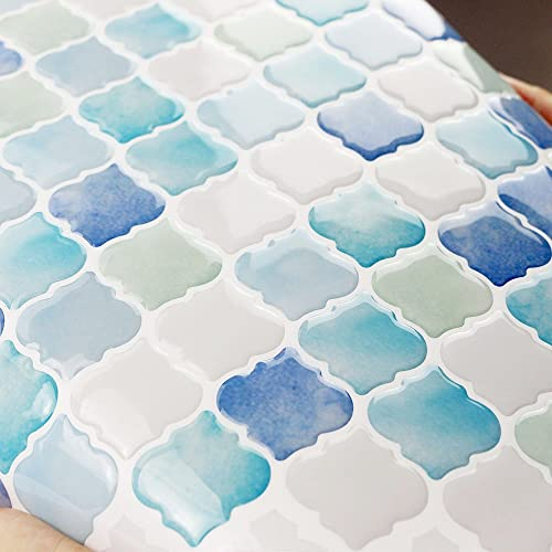 Blue Peel And Stick Tile Amazon Com