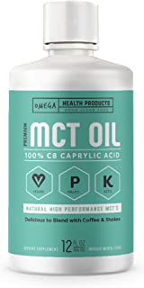 Omega C8 MCT Oil - 100% Pure Caprylic Acid - The Perfect Keto Diet Supplement for Coffee & Shakes - Additional Energy & Br...