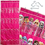 Alycwint 24 Pockets Hanging Toys Organizer for Kids' Toys Barbie Doll LOL Storage 58x22 inch