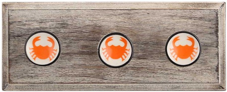 IndianShelf 4 Piece Handmade Orange Scorpion Flat Max 70% Outlet ☆ Free Shipping OFF Wooden Coat Wa