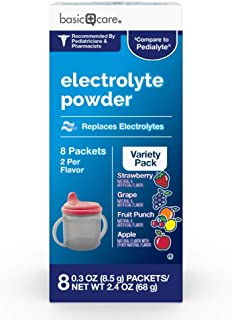 Basic Care Electrolyte Powder Variety Packets, 8 Count