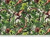Zanderino ab 1m: Dekostoff Jurassic, Digitaldruck, Dinos,