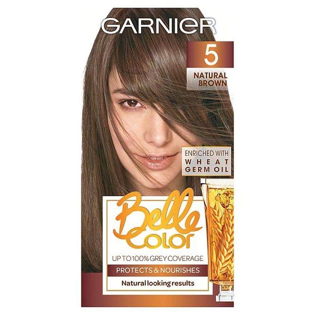 刺繍コメント職人[Belle Color ] ガーン/ベル/Clr 5ナチュラルブラウンの永久染毛剤 - Garn/Bel/Clr 5 Natural Brown Permanent Hair Dye [並行輸入品]