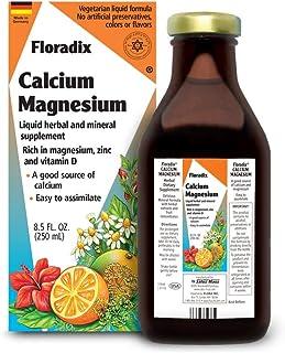 Salus Haus Floradix Liquid Calcium & Magnesium 8.5 Oz SMALL - Natural Vitamins Formula - Support for strong bones - Non GM...