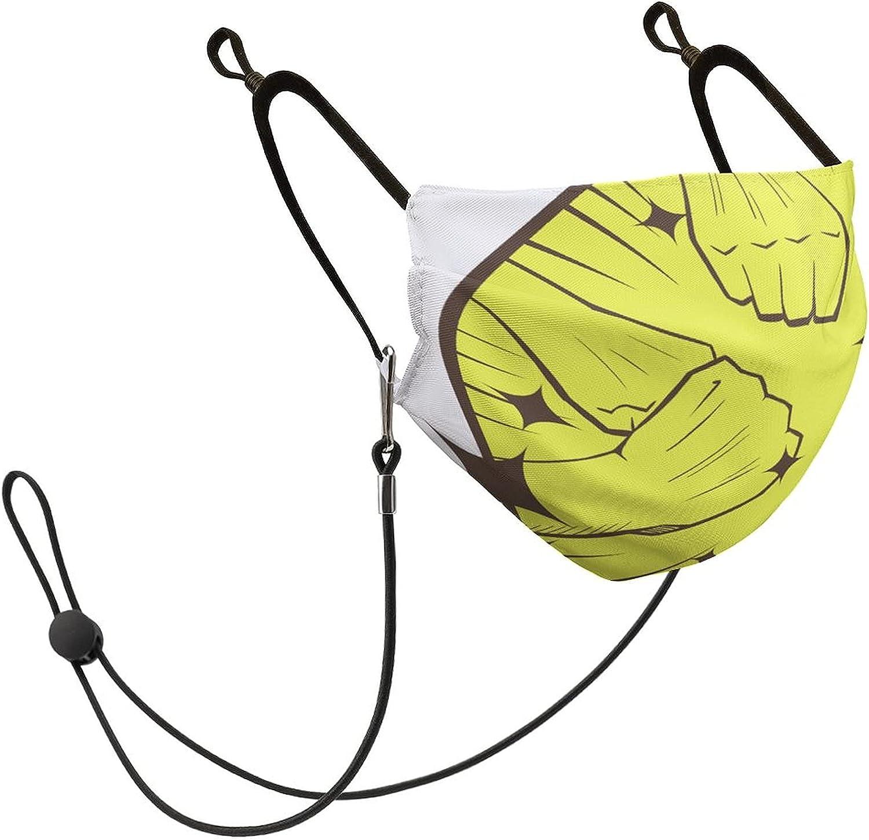 10 PCS Mask-Pattern-Unity-Yellow-Circle-with Popular popular Loop Adjustable overseas Ear