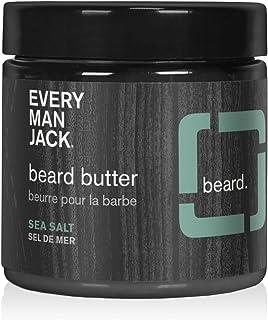 Every Man Jack Beard Butter - Sea Salt| 4-ounce - 1 Jar | Naturally Derived, Parabens-free, Pthalate-free, Dye-free, and C...