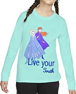 Disney Girl's Disney Frozen Girl's Long Sleeve T shirt T-shirts