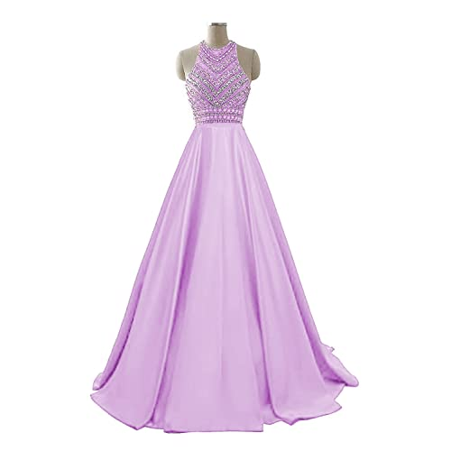 997f7a19e85 HEIMO Women s Sequins Evening Party Gowns Beading Formal Prom Dresses Long  H187