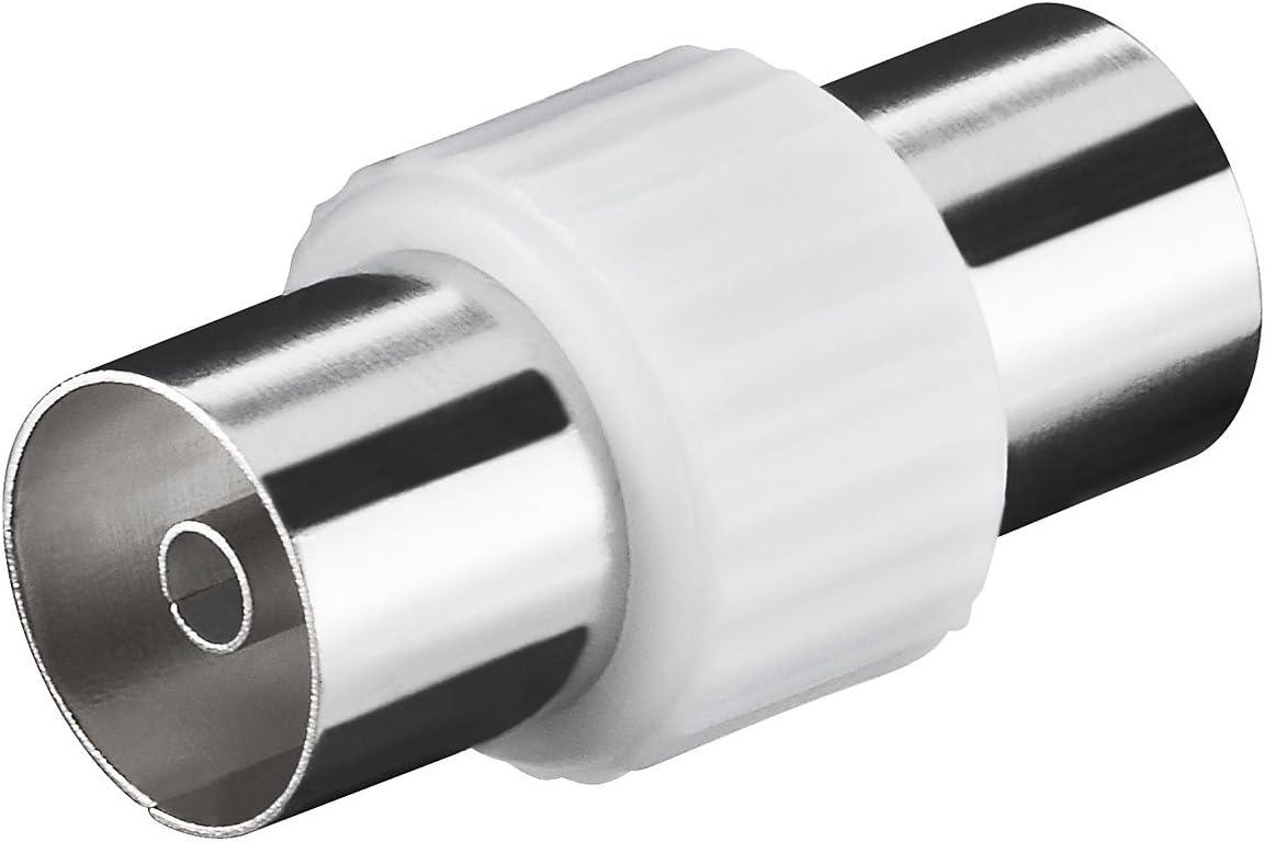 Conector coaxial Hembra a coaxial Hembra (2 x IEC Hembra) Antena Adaptador/Adaptador Coaxial Hembra – Hembra