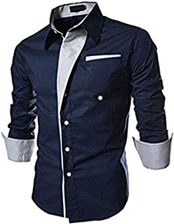 2e8795a2 ShopyBucket Blue Slim Fit Men's Cotton Casual Shirt for Men Full Sleeves