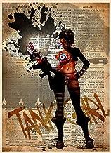 Tank girl dark, gritty, sexy post apocalyptic art