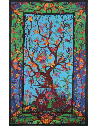Sunshine Joy 3D Tree Of Life Tapestry Wall Hanging Table Cloth Magical Dorm Decor - Huge 60x90 Inches