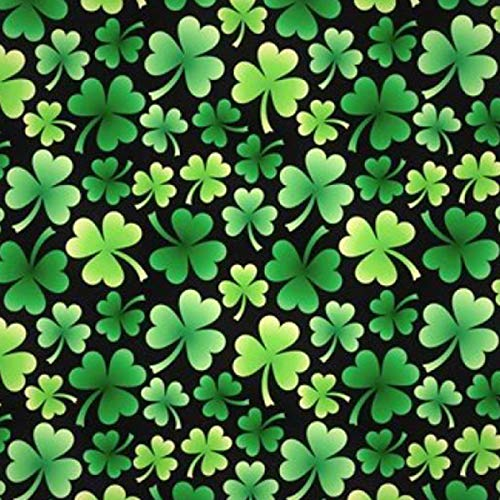 Pico Textiles Irish Shamrock Clovers Fleece Fabric - 60' Wide - Sold by The Yard & Bolt - Style# 6360 - $$ Buy More - Save More $$