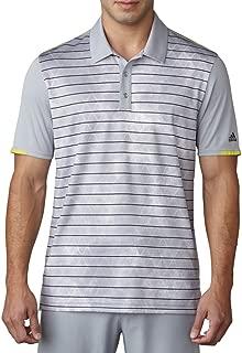 adidas Golf Men's Climachill Geo Stripe Print Polo