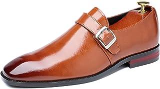 Zapatos de Vestir para Hombre Mocasines con Hebilla de Negocios Zapatos Oxford de Oficina Zapatos de Cuero de Fiesta de ot...