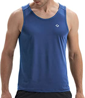 Men's Training Quick-Dry Sports Workout Activewear Muscle Bodybuilding Fit Active Athletic Tech Tank Top for Gym Fitness