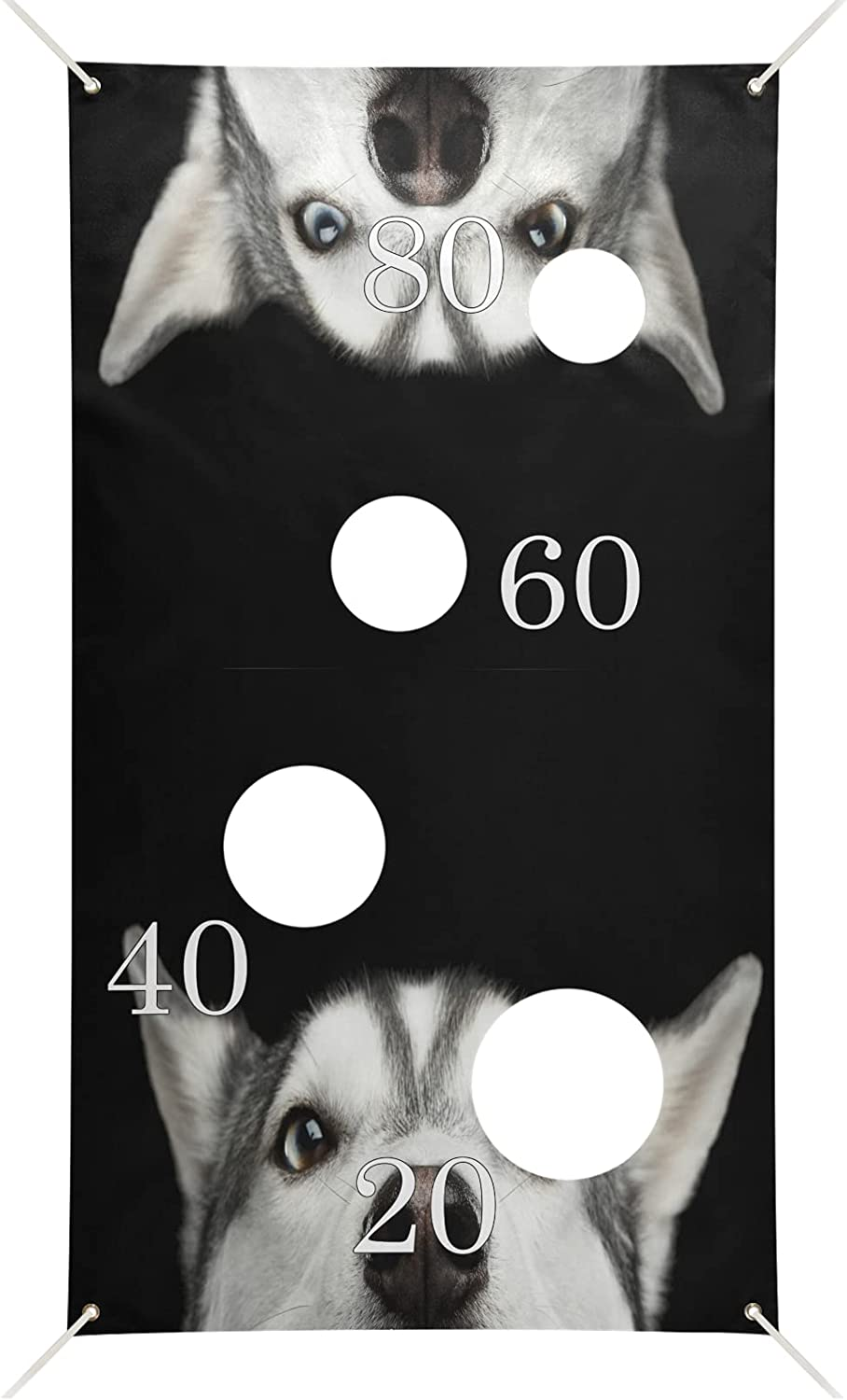 xigua Husky Dog Toss Games Banner Indoor Outdoo with 6 Bags Our shop OFFers the best service Bean unisex