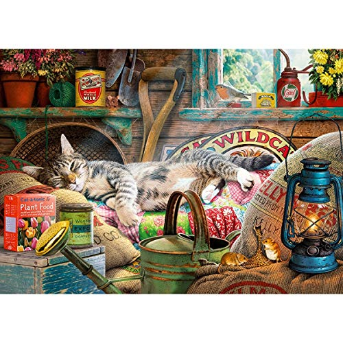 Gibsons Puzzle « Snoozing in The Shed » (1000 pièces)