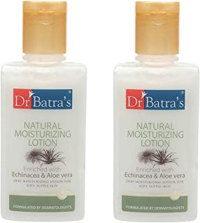 Dr Batra's Natural Moisturizing Lotion Enriched With Echinacea Aloe Vera - 100 ml (Pack of 2)