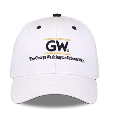 George Washington Colonials Adult Game Bar Adjustable Hat - White